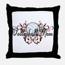 Volleyball Mom (tribal) Throw Pillow
