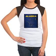 Grunge Alaska Flag Women's Cap Sleeve T-Shirt