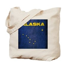 Grunge Alaska Flag Tote Bag