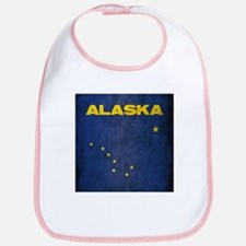 Grunge Alaska Flag Bib