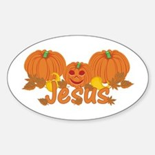 Halloween Pumpkin Jesus Decal
