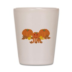 Halloween Pumpkin Jim Shot Glass