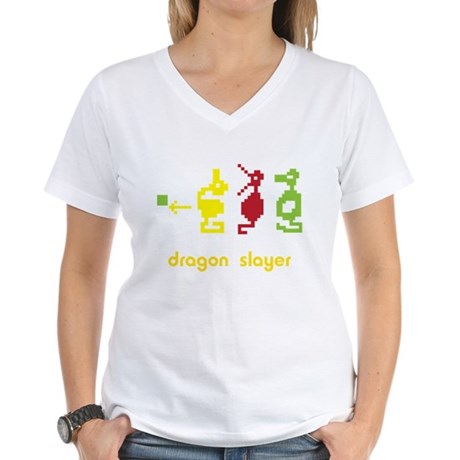 Adventure Dragon Slayer Women's V-Neck T-Shirt