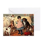 GIRL & DOGS Greeting Cards (Pk of 10)
