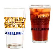 World's Greatest Genealogist Drinking Glass