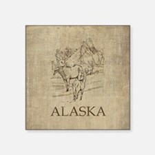 "Vintage Alaska Square Sticker 3"" x 3"""