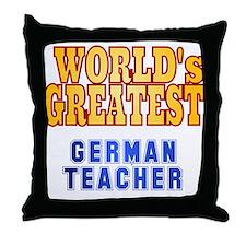 World's Greatest German Teacher Throw Pillow