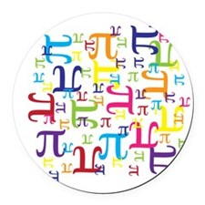 Pieces of Pi Round Car Magnet