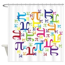 Pieces of Pi Shower Curtain