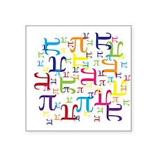 "Pieces of Pi Square Sticker 3"" x 3"""