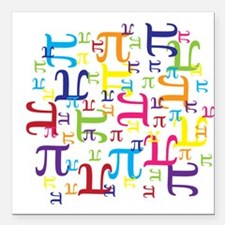 "Pieces of Pi Square Car Magnet 3"" x 3"""