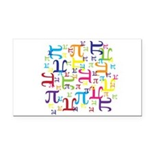 Pieces of Pi Rectangle Car Magnet