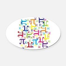 Pieces of Pi Oval Car Magnet