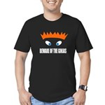 Beware of the Ginjas - White Men's Fitted T-Shirt