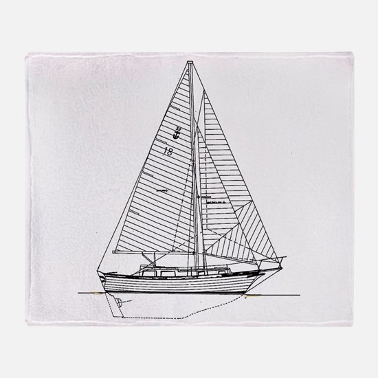 S/V Seabird Throw Blanket