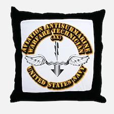Navy - Rate - AX Throw Pillow