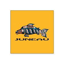 "Alaska Juneau Square Sticker 3"" x 3"""