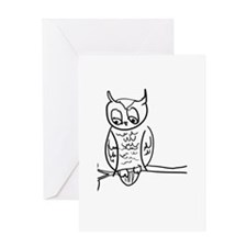Little Hoot - Owl on Branch Greeting Card