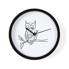Little Hoot - Owl on Branch Wall Clock