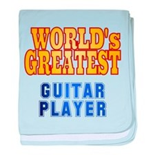 World's Greatest Guitar Player baby blanket