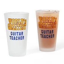 World's Greatest Guitar Teacher Drinking Glass