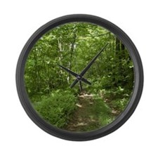 The Road Not Taken Large Wall Clock