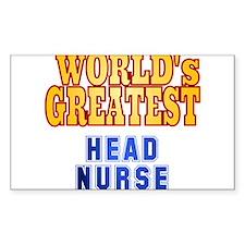 World's Greatest Head Nurse Decal