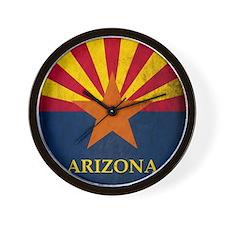 Grunge Arizona Flag Wall Clock