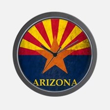 Grunge Arizona Flag Wall Clock