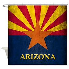 Grunge Arizona Flag Shower Curtain