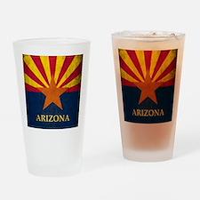 Grunge Arizona Flag Drinking Glass