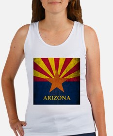 Grunge Arizona Flag Women's Tank Top