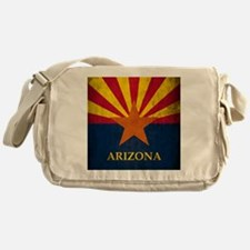 Grunge Arizona Flag Messenger Bag