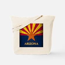 Grunge Arizona Flag Tote Bag