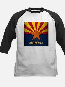 Grunge Arizona Flag Kids Baseball Jersey