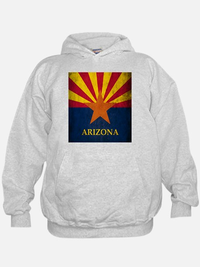 Grunge Arizona Flag Hoody