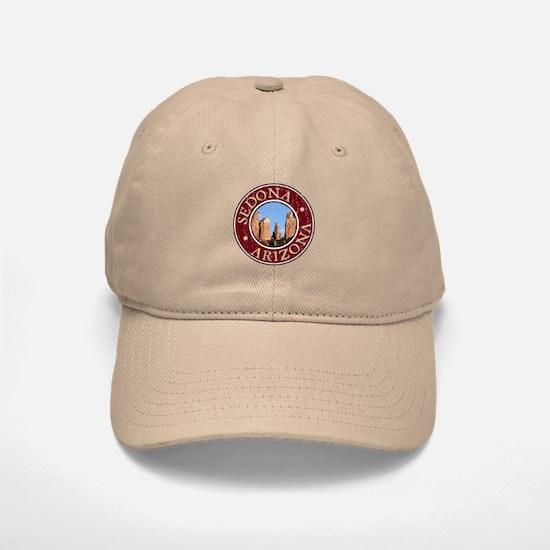 Sedona - Cathedral Rock Distressed Baseball Baseball Cap
