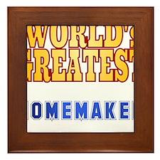 World's Greatest Homemaker Framed Tile