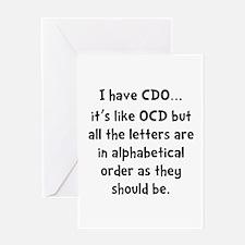 CDO Like OCD Greeting Card