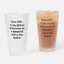 CDO Like OCD Drinking Glass