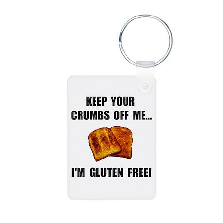 Crumbs Off Me Gluten Free Aluminum Photo Keychain