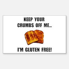 Crumbs Off Me Gluten Free Decal