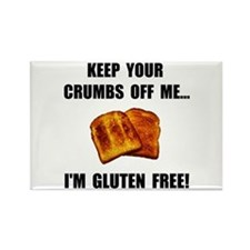 Crumbs Off Me Gluten Free Rectangle Magnet (100 pa