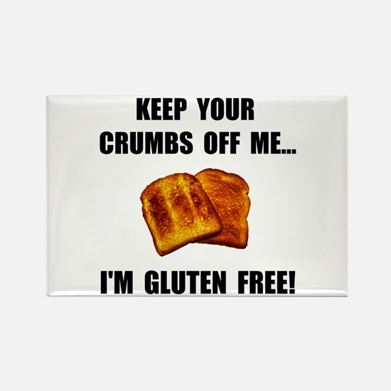 Crumbs Off Me Gluten Free Rectangle Magnet (10 pac