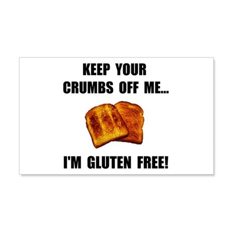 Crumbs Off Me Gluten Free 20x12 Wall Decal