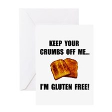 Crumbs Off Me Gluten Free Greeting Card