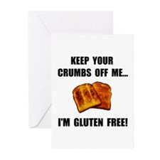 Crumbs Off Me Gluten Free Greeting Cards (Pk of 10