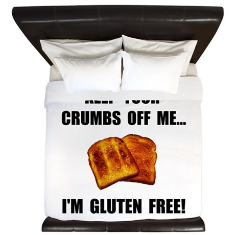 Crumbs Off Me Gluten Free King Duvet