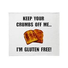 Crumbs Off Me Gluten Free Throw Blanket