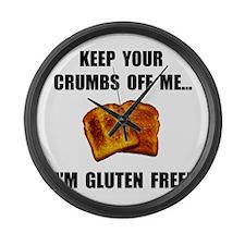 Crumbs Off Me Gluten Free Large Wall Clock